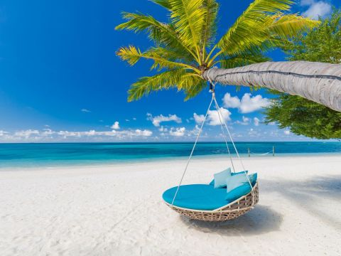 1280 Luxury travel background. Summer vacation or holiday concept on tropical beach Mauritius shutterstock 1147766930